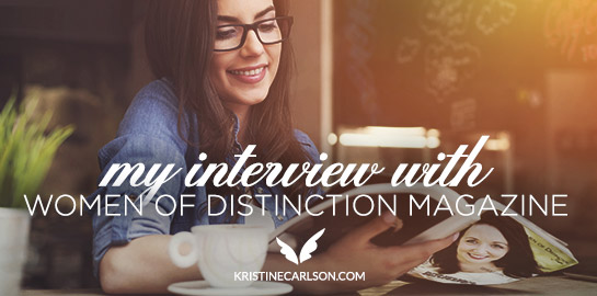 my interview with women of distinction magazine blog