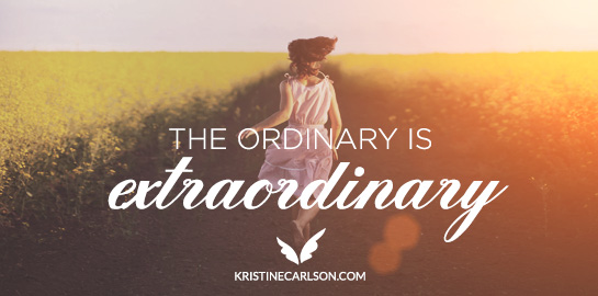 the ordinary is extraordinary blog