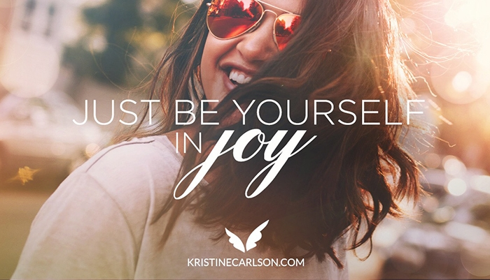 just be yourself in joy blog