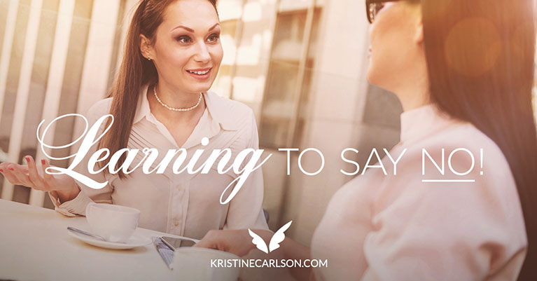 learning to say no blog