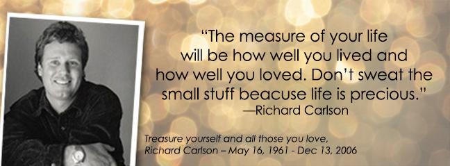 Richard Carlson Quote