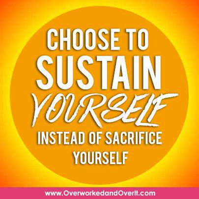 choose to sustain yourself